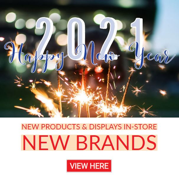 Happy New Year 2021! New in-store displays, products, and brands at HBC.