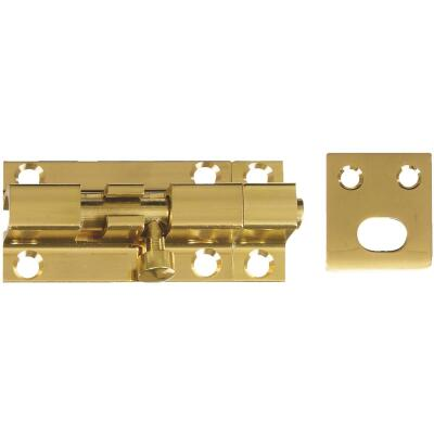 National 1925 Solid Brass Door Barrel Bolt (2-Pack)
