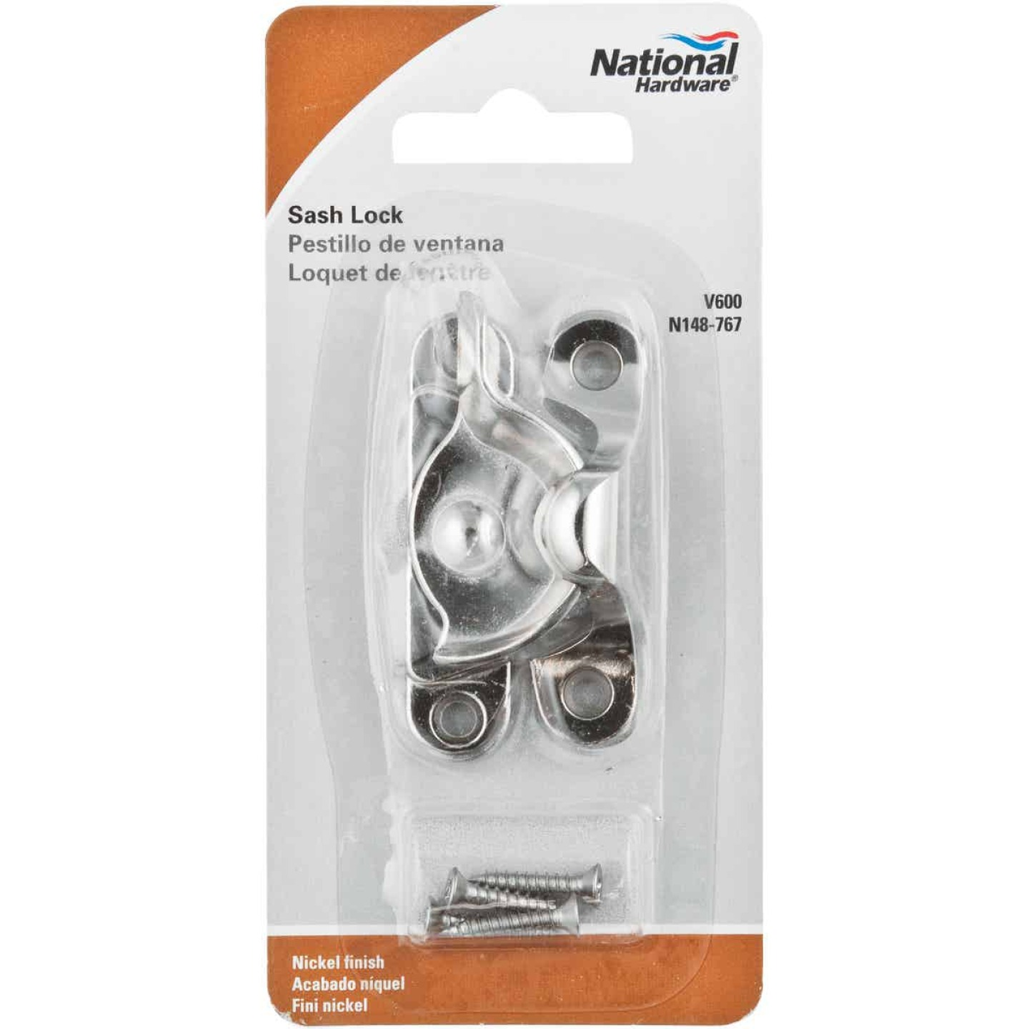 National Nickel 7/8 In. Crescent Sash Lock Image 2