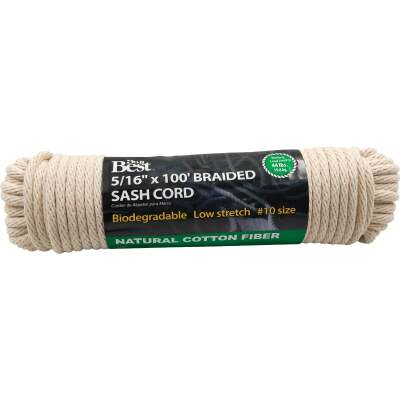 Do it 5/16 In. x 100 Ft. White Solid Braided Cotton Sash Cord