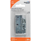 National 2-1/2 In. Zinc Loose-Pin Narrow Hinge (2-Pack) Image 2