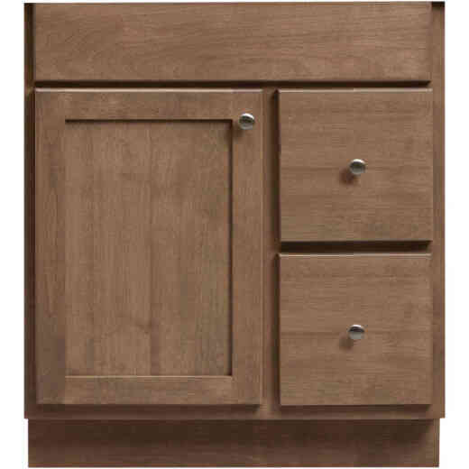 Bertch Bear Creek Driftwood 30 In. W x 34-1/2 In. H x 21 In. D Vanity Base, 1 Door/2 Drawer