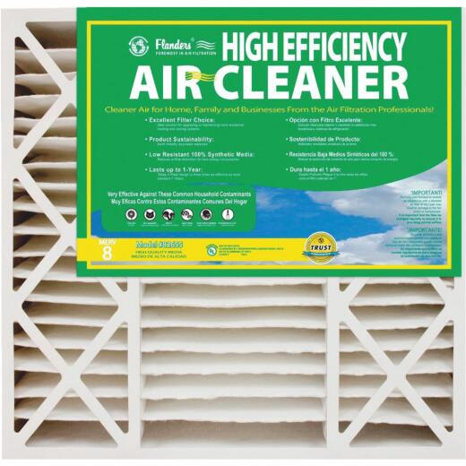 Flanders 20 In. x 25 In. x 5 In. High Efficiency Deep Pleat AB500 MERV 8 Furnace Filter