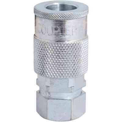 Milton 1/4 In. FPT H-Style Brass Coupler
