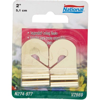National Brass Suspended Ceiling Hook (2 Pack)