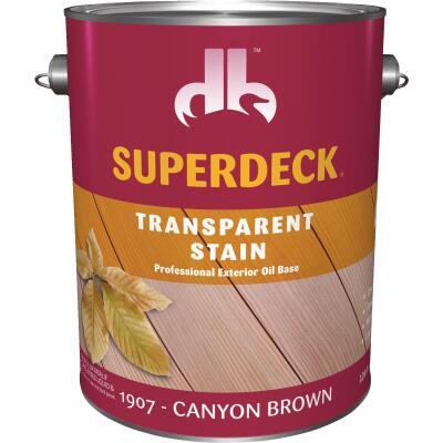 Duckback SUPERDECK Transparent Exterior Stain, Canyon Brown, 1 Gal.